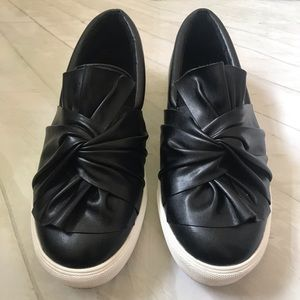 MIA Black Soft NAPPA Slip - On Sneaker